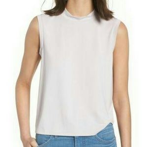 NWT Madewell sandwashed mock neck tank top